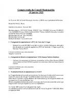 CR Conseil Municipal du19 01 21