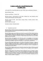 Compte rendu du Conseil du 29 juillet 2021